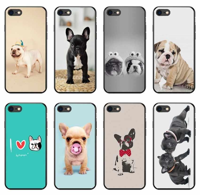 Милый щенок для Мопсов, французских бульдогов чехол телефона чехол для iPhone X XS Max XR 6 6 S 7 8 плюс 5 5S samsung S6 S7 S8 края плюс Чехол