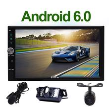 Android 6.0 Car Radio Double 2 Din In Dash Stereo Head Unit GPS Car Radio No-DVD Player SWC WIFI Dual CAM-IN OBD2 External Micro