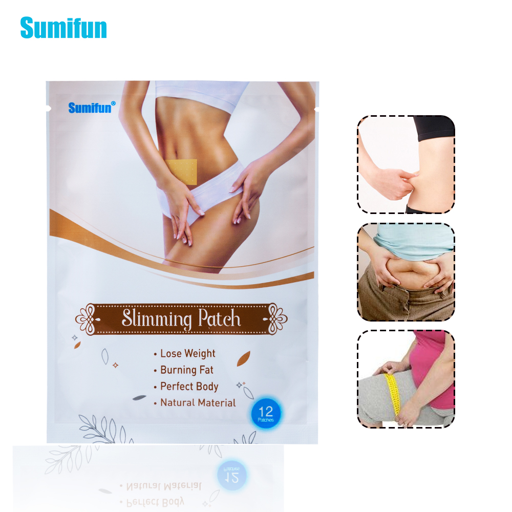 Sumifun 24 Pieces=2Bags Slimming Patch KONGDY New Belly Abdomen Weight Loss Fat burning  ...