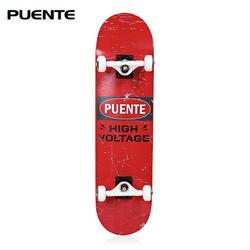 Скейтборд PUENTE Skate Board ABEC-9 для взрослых с четырьмя колесами patineta Double Snubby Maple Sport Rocker Skateboard для развлечения скейтбординга