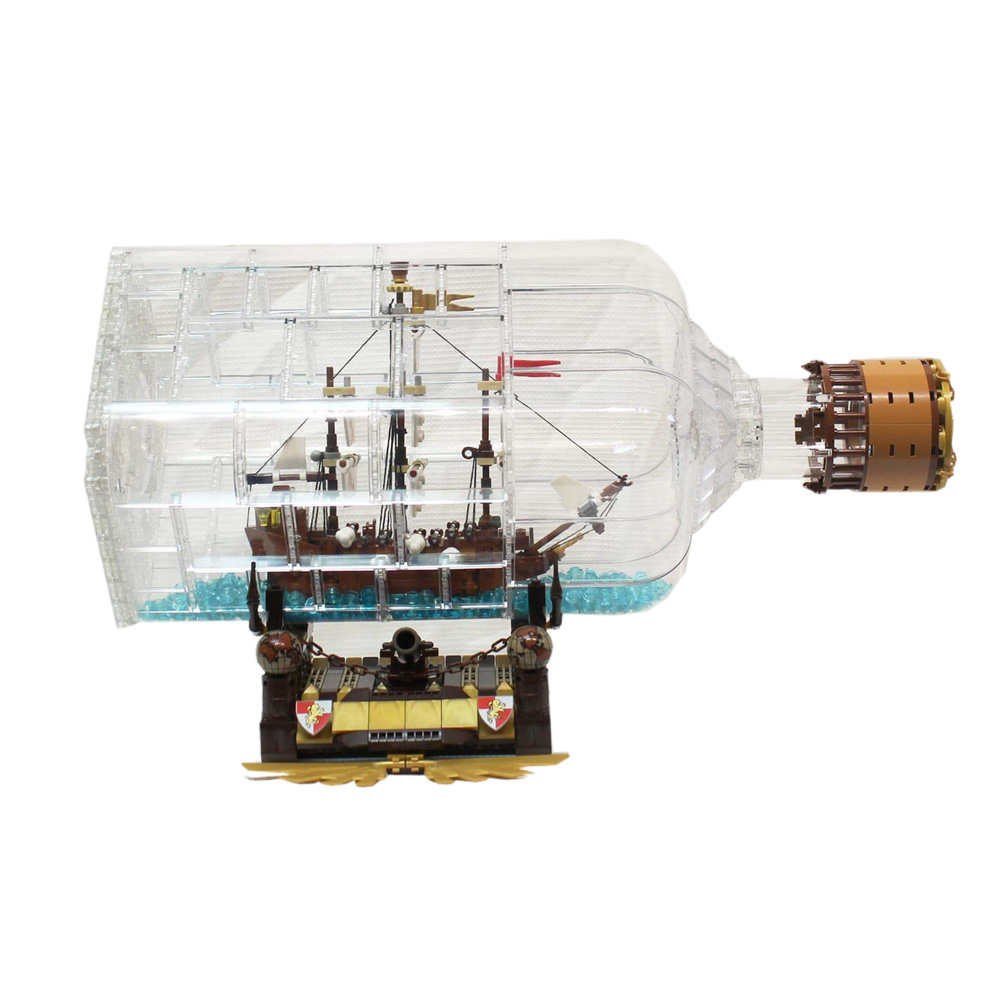 Lepin building bricks 16045 Pirates of the Caribbean Ship in Bottle 775pcs Building Blocks Toys lepin 16045 genuine 775pcs creative series the ship in the bottle set building blocks bricks toys model gifts