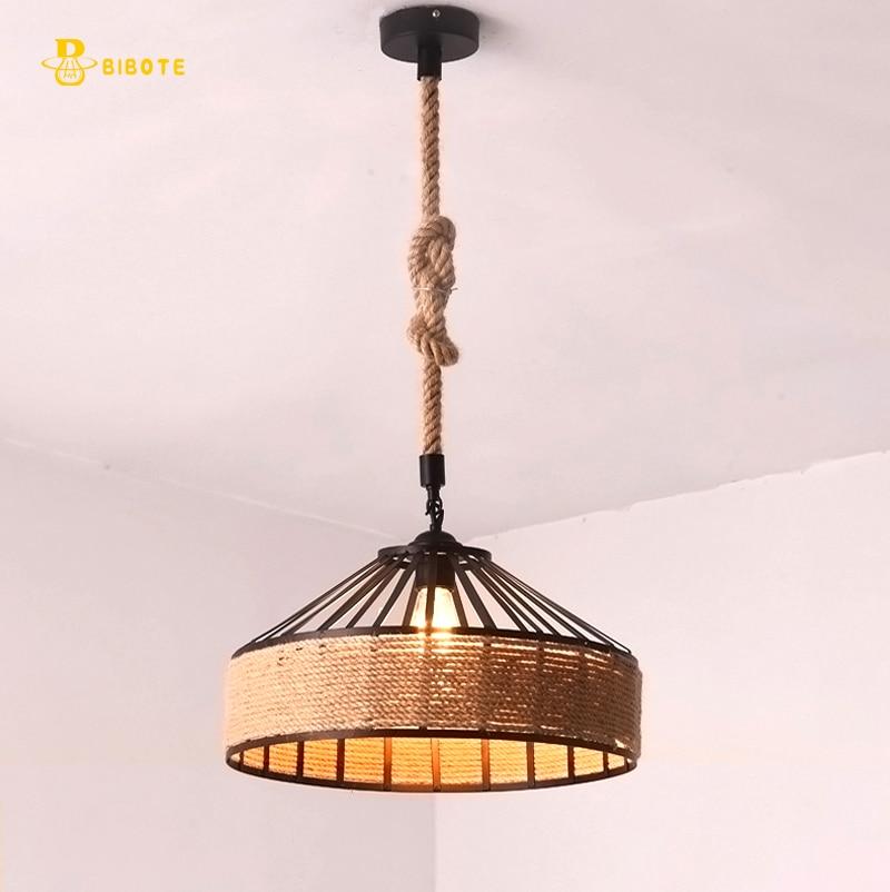 Здесь продается  Modern LED chandelier Retro industrial wind rope chandelier with LED Edison bulb through dining room study aisle free shipping  Свет и освещение