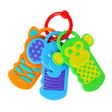 Silicone Teether Baby Toys  Infant Baby Key Model Teether Dental Care Products Baby Toothbrush without BPA