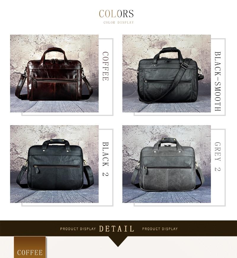 HTB1I5nMdlDH8KJjSspnq6zNAVXa3 Men Oil Waxy Leather Antique Design Business Briefcase Laptop Document Case Fashion Attache Messenger Bag Tote Portfolio 7146