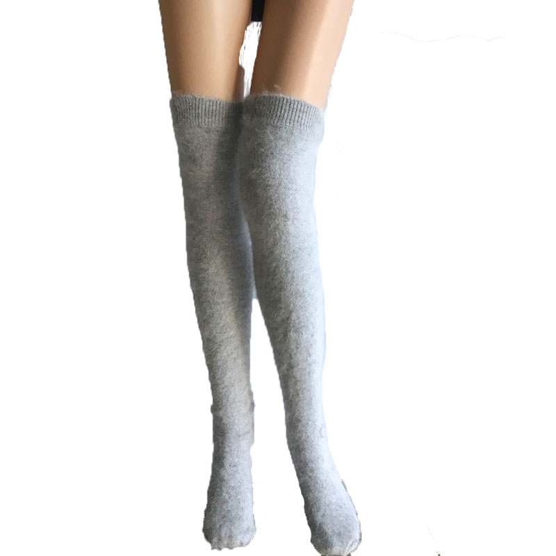 LOVELYDONKEY Women knit Winter socks mink cashmere socks free shipping M920