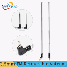 Retractable 3.5mm FM Antenna Aerial Long Range Telephone Antenna Player Speaker Radio Antenna Signal Aerial Amplified 24cm Long
