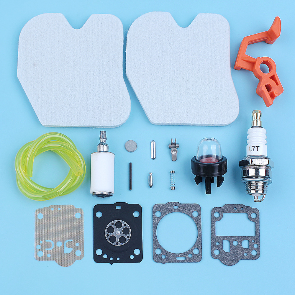 Service Carb Kit Air Fuel Filter For McCULLOCH CS340 CS380 Chainsaw Gas Line Primer Bulb Spark Plug Set Replacement Spare Part