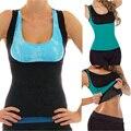 Неопрен жилет грудью корсетные женщин тренировки износ похудения потливость вес упражнения потеря молния body shaper korsett