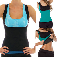 Sport Neoprene Vest Underbust Corselet Womens Workout Wear Slimming Sweating Gym Weight Loss Exercise Zipper Body