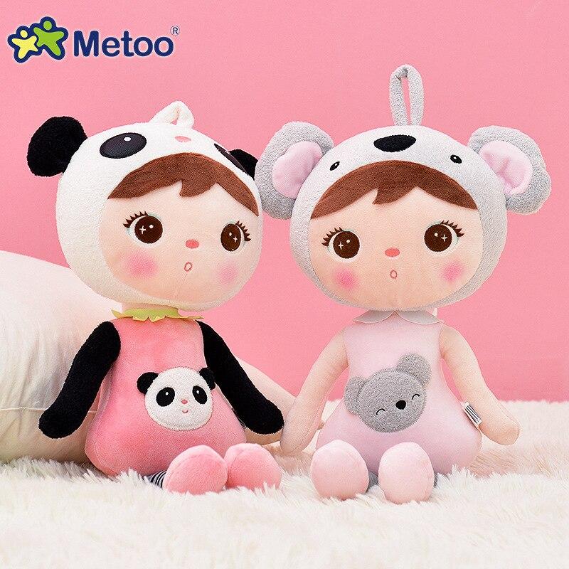 45 cm kawaii peluche animales dibujos animados niños juguetes para niñas niños cumpleaños navidad regalo Keppel Panda bebé Metoo muñeca