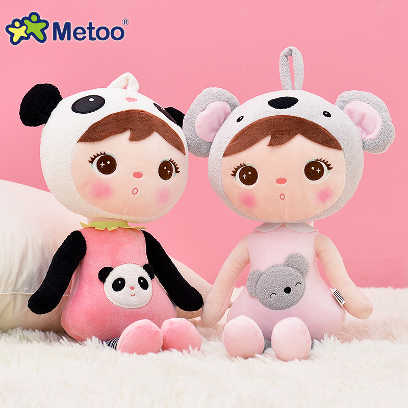 45cm kawaii Stuffed Plush Animals Cartoon Kids Toys for Girls Children Birthday Christmas Gift Keppel Panda Baby Metoo Doll cute bulbasaur plush toys baby kawaii genius soft stuffed animals doll for kids hot anime character toys children birthday gift