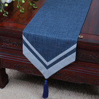 Latest Patchwork Plain High Quality Table Runner Cotton Linen Modern Simple Coffee Table Cloth Dining Table