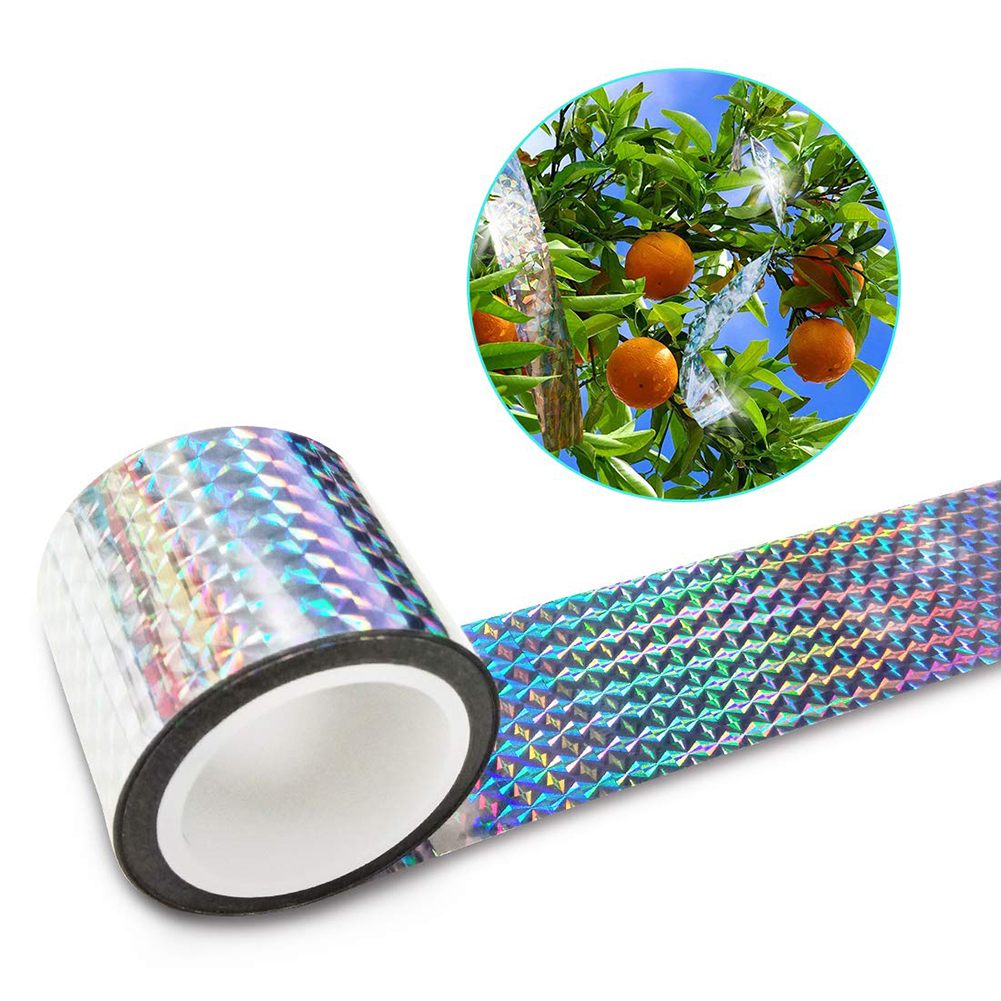 90m Bird Repellent Scare Tape Audible Repellent Pigeons Repeller Ribbon Tapes Dual Sided Reflective Bird Deterrent Ribbon(China)