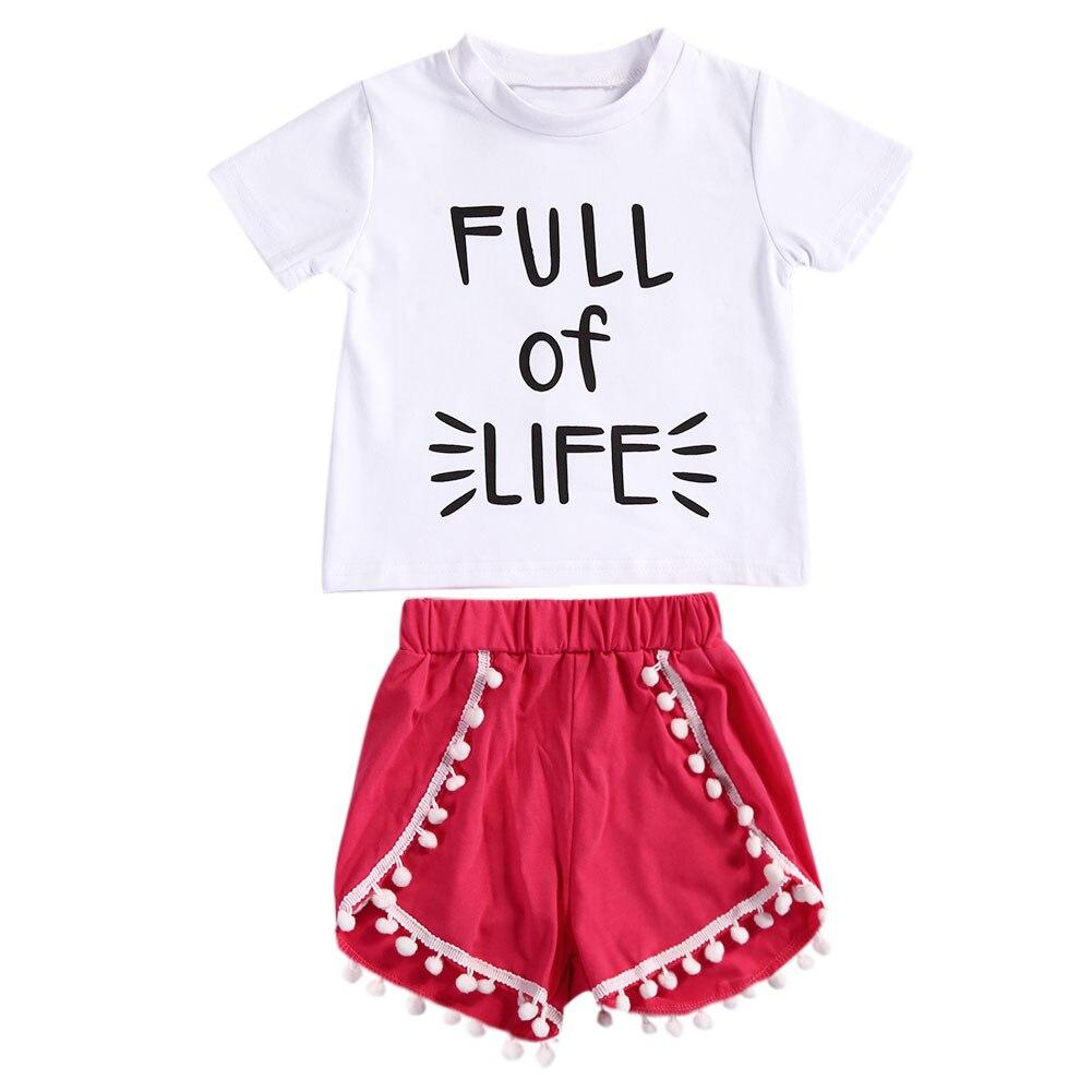2pcs vauvan tytöt asettaa taapero lapset vauvan tytöt vaatteet - Lastenvaatteet