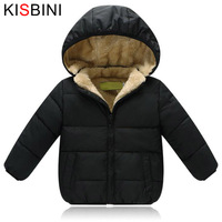 KISBINI Kids Winter Jacket Thick Velvet Girls Boys Coat Warm Children S Jackets Cotton Infant Clothing
