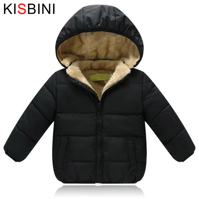 285c4375f KISBINI Winter Jacket Thick Velvet For Girls Boys Baby Unisex Warm ...