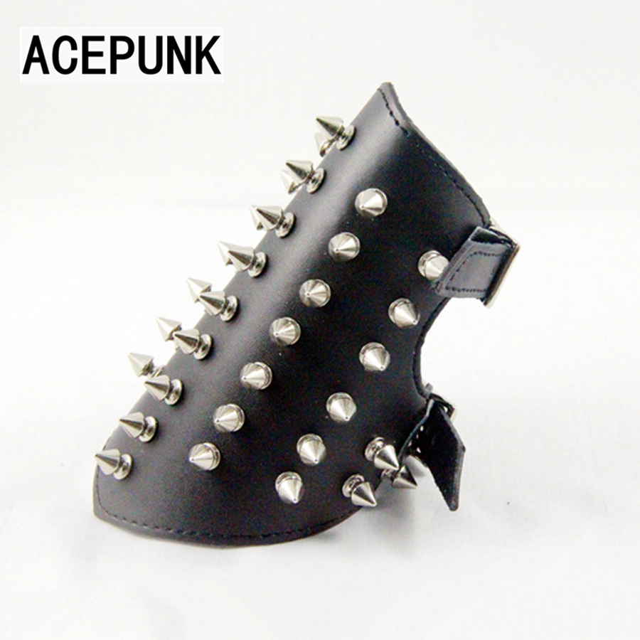 2018 New Fashion Spikes Rivet Stud Wide Cuff Leather Bracelet Buckle Punk Bracer Wrist Unisex Bangle Bracelet Men Jewelry new original nt20 st121 ec touch screen glass