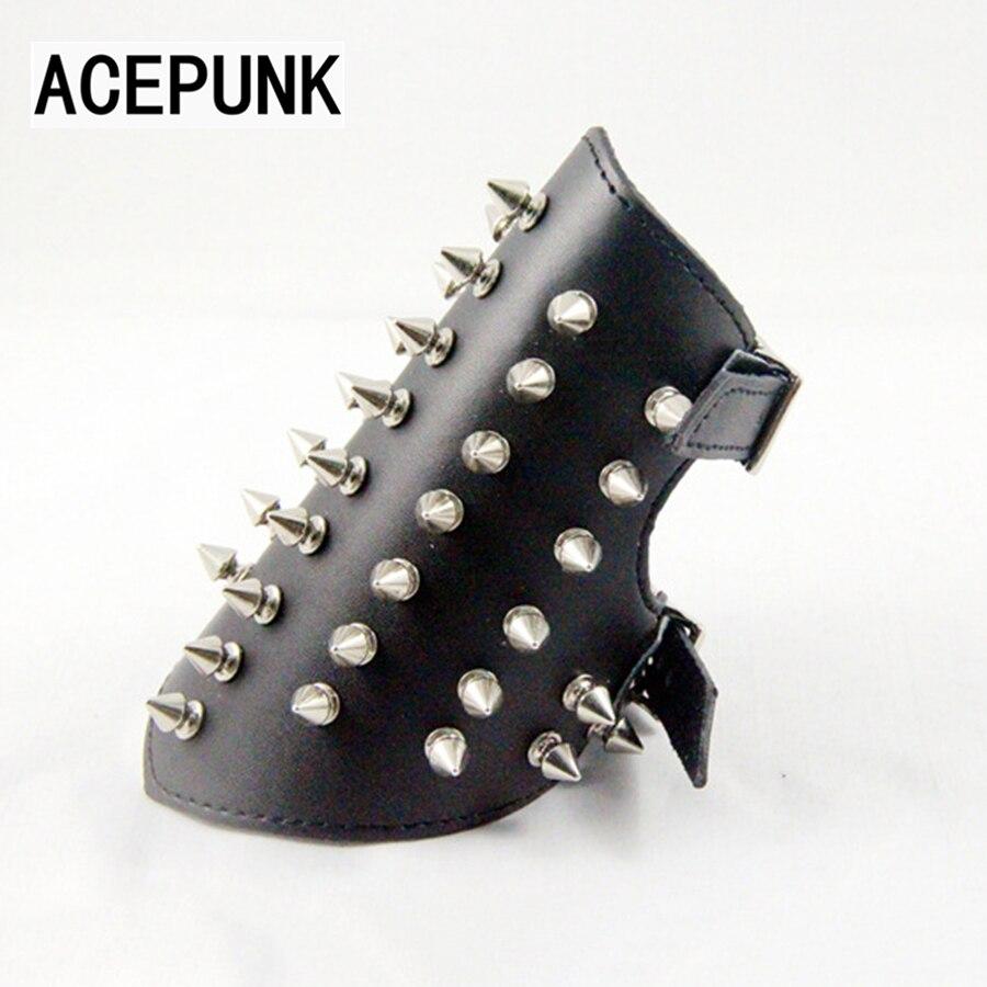 2018 New Fashion Spikes Rivet Stud Wide Cuff Leather Bracelet Buckle Punk Bracer Wrist Unisex Bangle Bracelet Men Jewelry футболка topshop topshop to029ewtqy51