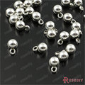 (30012)200PCS Diameter 4MM Antique Silver Plated Zinc Alloy Small Round Ball Charms Diy Jewelry Findings Jewelry Accessories
