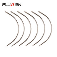 Plussign Hot Sell 12Pcs/Lot C Shape Curved Needles With Smooth Surface Wig Making Crochet Braids Ventilating Hair Weaving Needle(China)