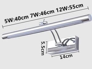 Image 4 - Phòng tắm 7W/46CM 12W/55CM Gương LED Ánh Sáng 90 260V Phong Cách Thời Trang trắng ấm/Trắng Mát ĐÈN LED Dán Tường