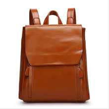 Мода 2017 г. высокое качество женские PU кожаные сумки бренда Дизайн женщины рюкзак, Женский масло воск кожаная сумка