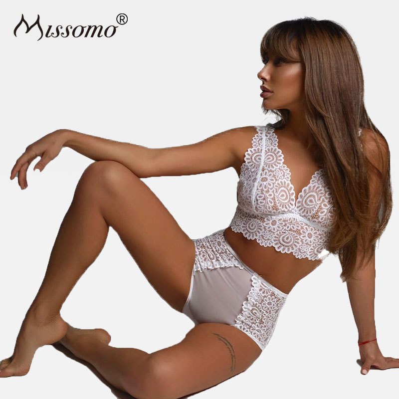 Missomo Lace Bras Set For Women Sexy VS Stripper BH Bralet Modis Push Up Bralette Plus Size Cup Brassiere Lingerie Underwear|Bra & Brief Sets|   - AliExpress