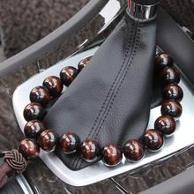 Wood Buddha Beads Car Rearview Mirror Hanging Pendant Interior Decoration Ornament Accessories