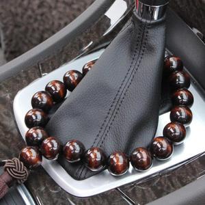 Wood Buddha Beads Car Rearview