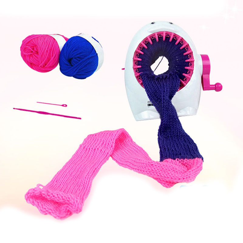 5b097aba4 DIY Hand Sweater DIY Toy Girl Knitting Machine Weaver Creative Yarn ...