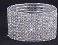 Bling Bling 10Row Rhinestone Crystal Girl's Bracelet,Wedding Bridal Bracelet Jewelry