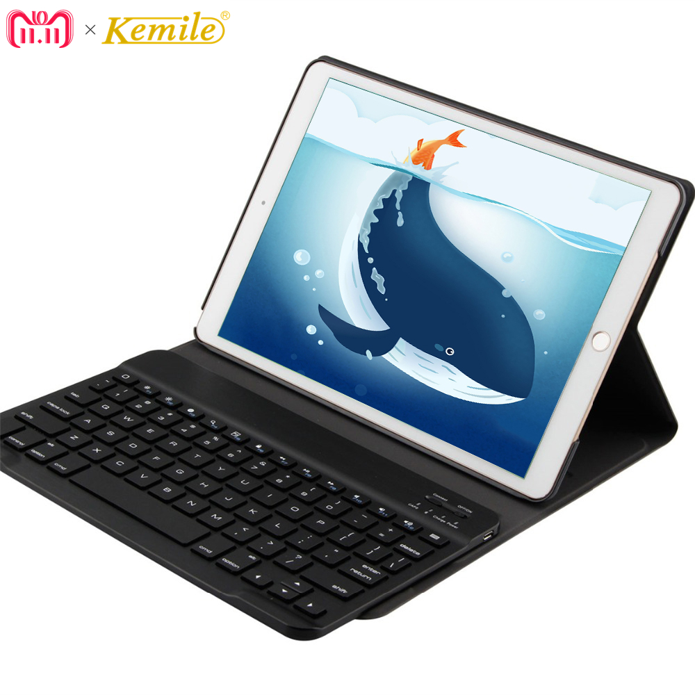 Kemile Portable Leather Case For iPad pro 10.5 inch Cover Wireless Aluminum Alloy Bluetooth Keyboard for iPad Pro 10.5 A1701 kemile wireless bluetooth keyboard for ipad pro 9 7 a1673