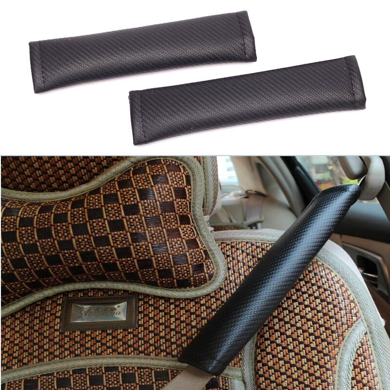 HUANLISUN Car Styling 2 piece/set Car Safety Seat Belt Strap Soft Shoulder Pads Cover luxury brand design black