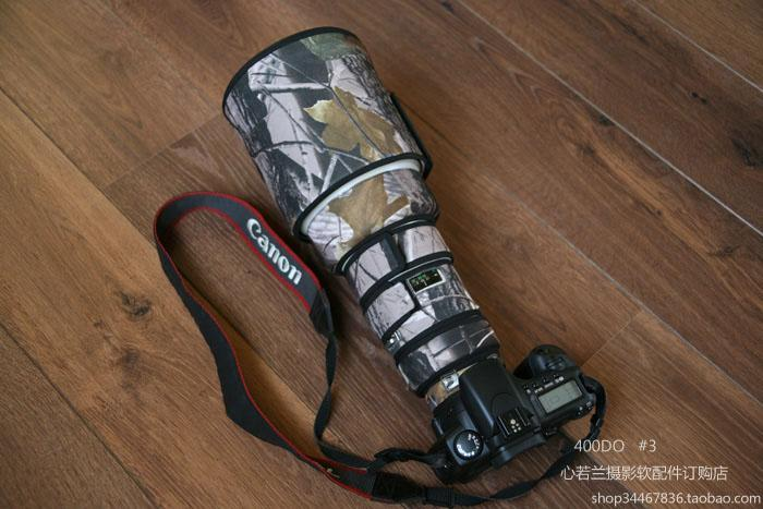 ROLANPRO Lens Camouflage Rain Cover Canon EF 400mm f/4 DO IS USM lens SLR Gun Clothing Protective Case Lens Protection Sleeve rolanpro lens clothing camouflage rain cover canon ef 70 200mm f2 8 l is ii usm lens protection sleeve guns case dslr bag canon