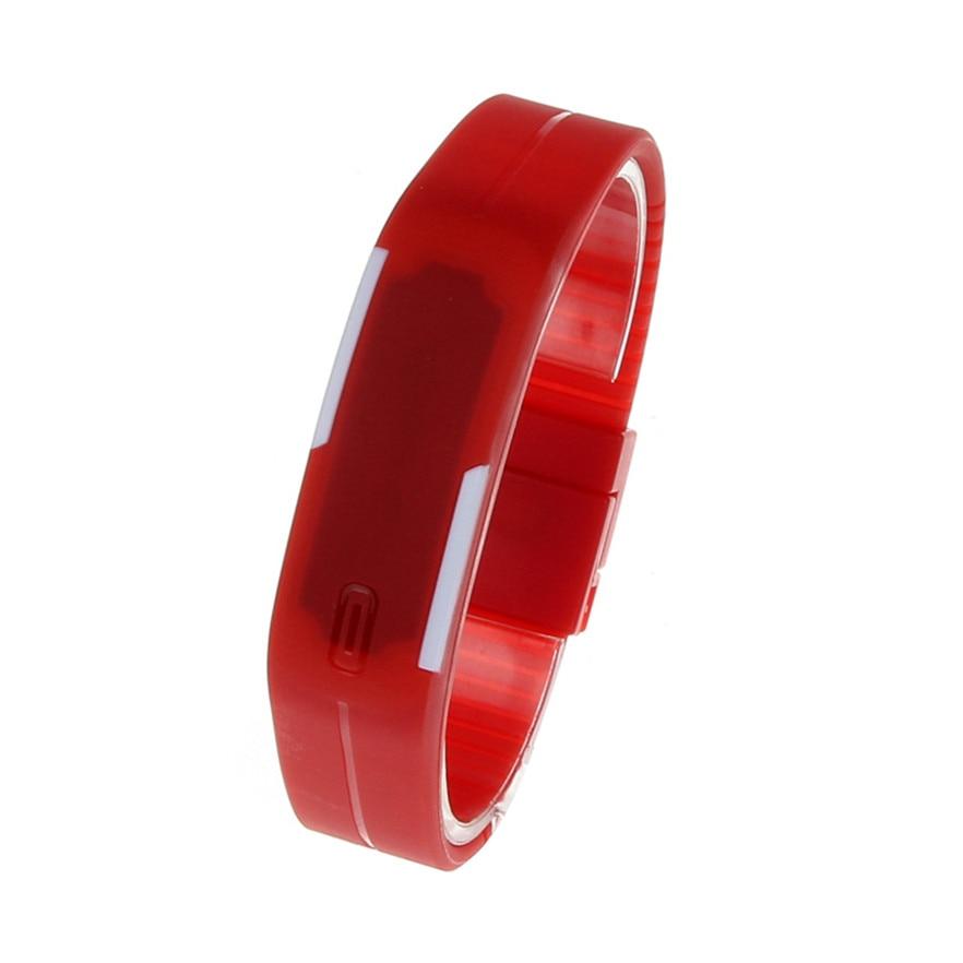New Arrive Wrist watch Fashion Electronic LED Digital Wristwatches Unisex Sports Watches women men Relojes #40 Gift 1pc