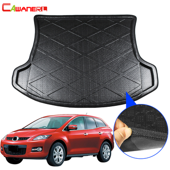 Cawanerl Car Rear Trunk Mat Floor Tray Boot Liner Cargo Kick Carpet Luggage Protector Pad Styling For Mazda CX-7 CX7 2007-2017 image