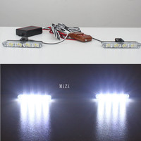 2x4 Led Warning Light With3Modes Controller12V Strobe Warning Light Car Truck Emergency Flashing FiremenLight Best Quality