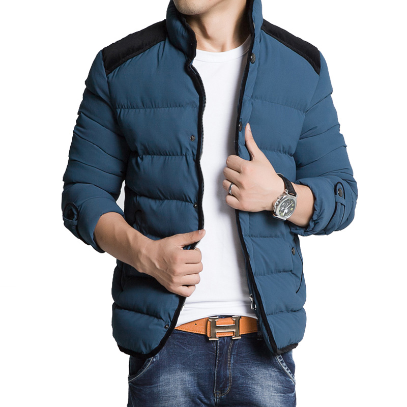 2016 Men Brand Quilted Jacket Winter Outerweare Slim Fit Coat Warm Clothing Casaco Masculino Vetement Homme