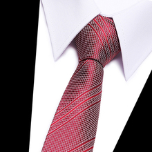 High-grade New fashion wine red striped tie men 8 cm width group necktie fit wedding party for corbatas 2018-48