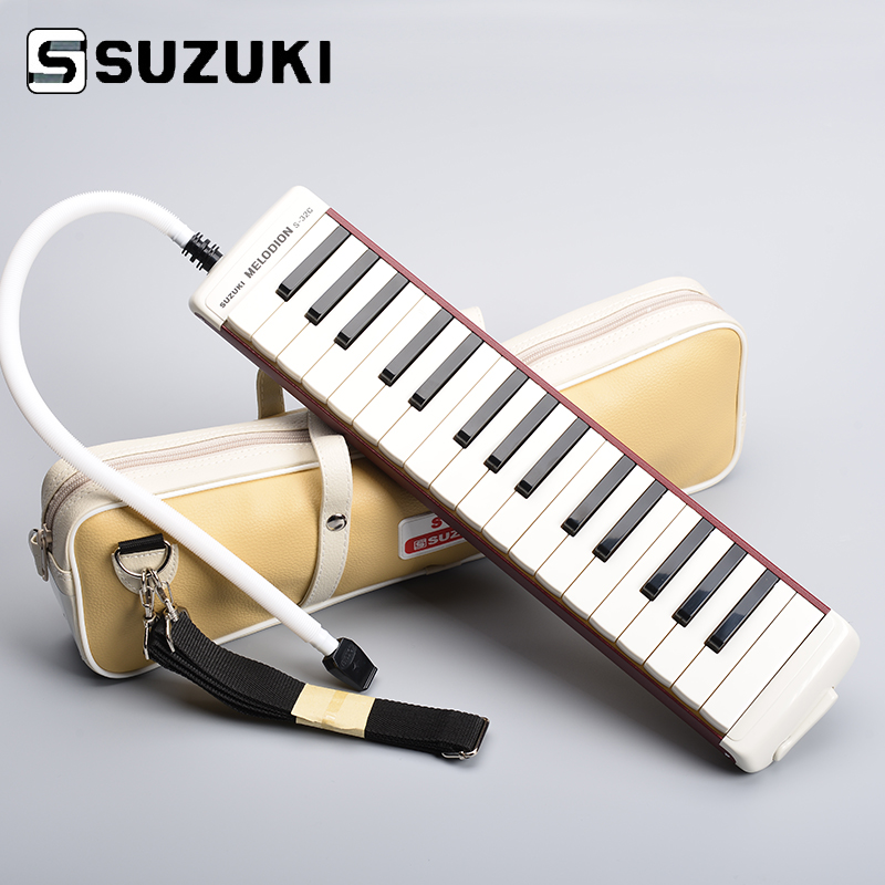 Suzuki S-32C Soprano Melodion with Case and Mouthpiece <font><b>32</b></font> <font><b>Key</b></font> <font><b>Melodica</b></font> Professional Performance image