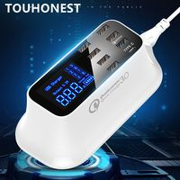 Universal 7 Port USB Charger Type C Charger Smart Fast Charging Quick Charge 3.0 Dock Station Led Display Power Adapter Socket