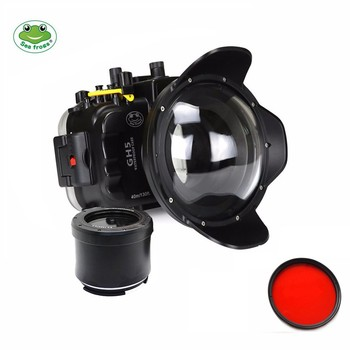 цена на Seafrogs 40m 130ft Underwater Camera Waterproof Housing Case for Panasonic GH5+MEIKON Red Filter 67mm+MEIKON Red Filter 67mm