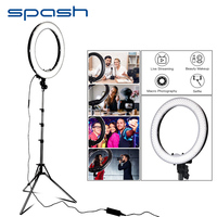 spash 18 Ring Light LED Annular Lamp Makeup Mirror Ring Light for Youtube Vlog Camera Ringlight with Tripod 240 LED 5500K CRI90