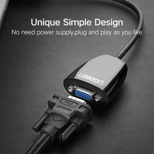 Image 5 - Ugreen HDMI to VGA Connector HDMI VGA Audio Adapter Male to Female HDMI VGA Converter Cable 1080P for XBOX one PS3 PS4 HDTV PC L