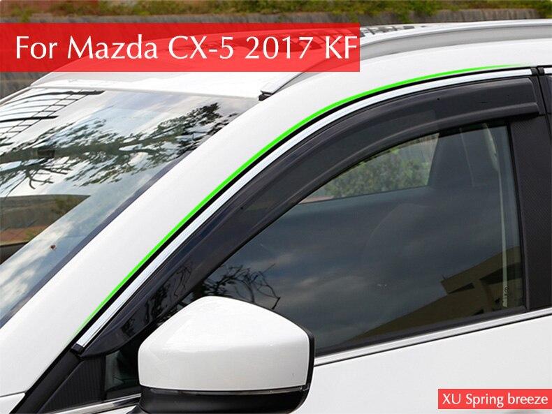 Auto For CX 5 2017 Rain shield Rain Shelter Windows Shelter Window Visor Window Deflector Sun Visor for Mazda CX-5 2017 2018 4pcs set smoke sun rain visor vent window deflector shield guard shade for hyundai tucson 2016
