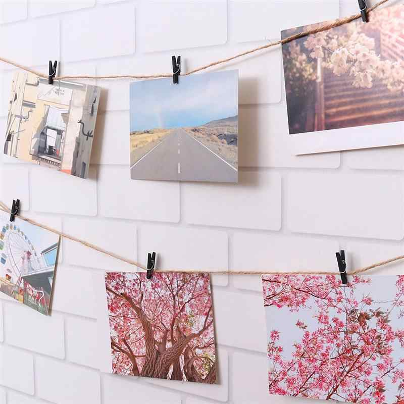 100pcs Mini 2.5cm Wooden Utility Paper Clips Clothespin Photo Cable Clip Picture Organizer Clips for Hanging Painting Artwork