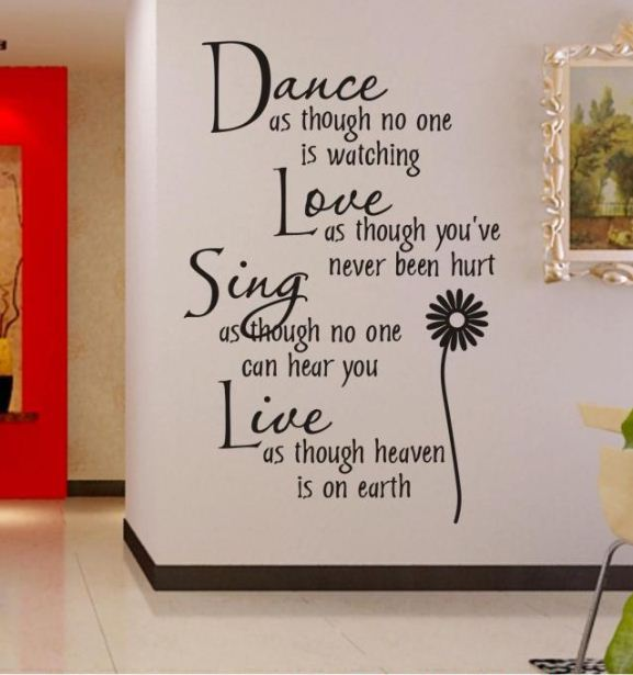 dance as though no one is watching removable vinyl wall art words