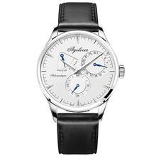 Agelocer Brand Watches Original Design Mechanical Watches for Men Casual Fashion Watches Genuine Leather Strap Power Reserve 410
