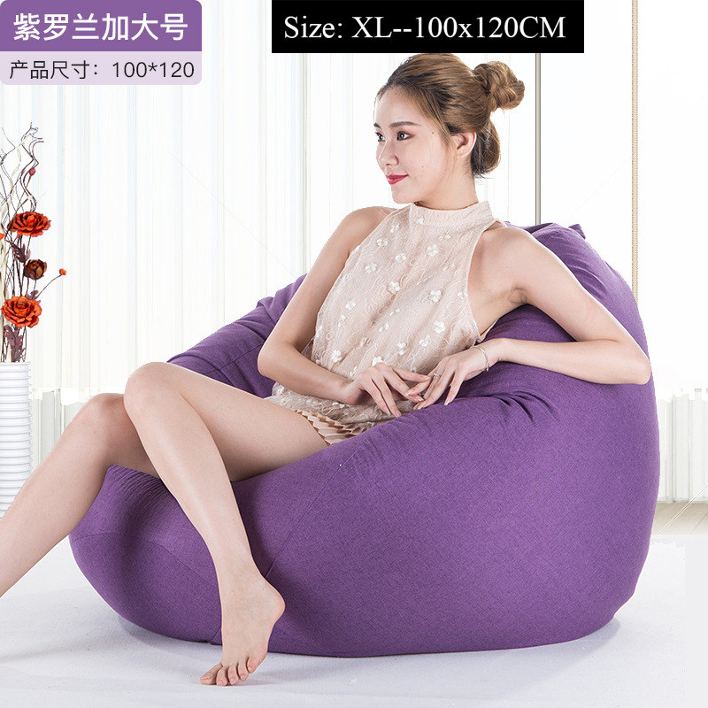 Large Small Lazy BeanBag Sofas Cover Chairs without Filler Linen Cloth Lounger Seat Bean Bag Pouf Puff Couch Tatami Living Room herramientas para el aseo de la casa
