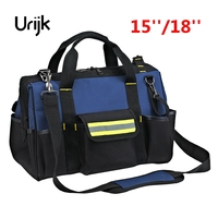Urijk 15 18 Large Outdoor Network Electrician Repairing Oxford Tool Bag Multifunction Waterproof Wearable Strap Thickening